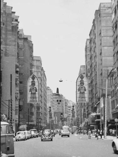 Rua Tonelero com a Siqueira Campos 1960
